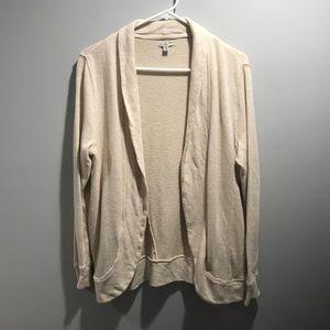 Ecote UO cream Open Front Cardigan jacket sweater